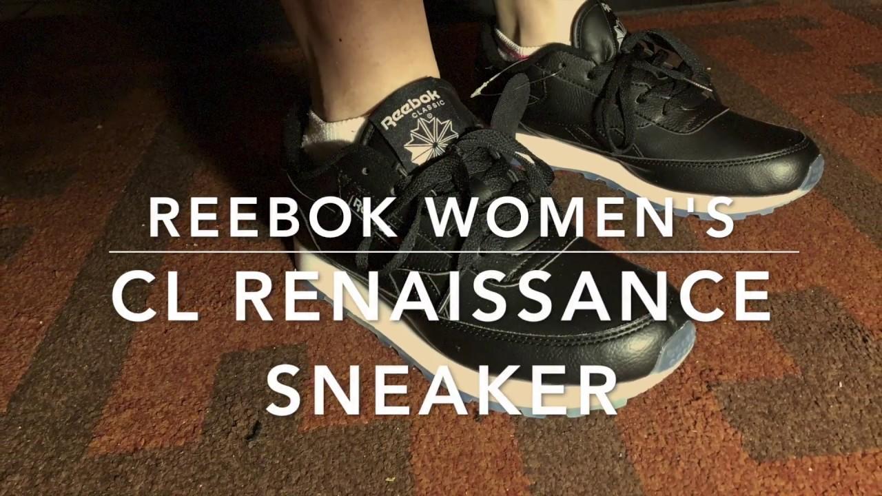 6434dd414eb Reebok women s Cl Renaissance ice fashion sneaker - YouTube