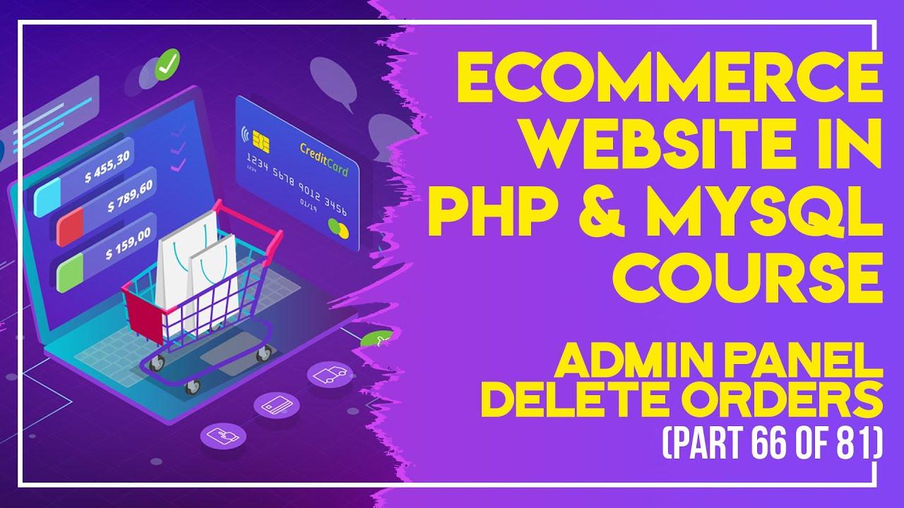 E-Commerce website in PHP & MySQL in Urdu/Hindi part 66 admin panel view orders