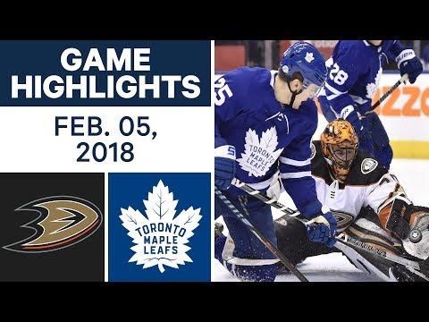 NHL Game Highlights | Ducks vs. Maple Leafs - Feb. 5, 2018