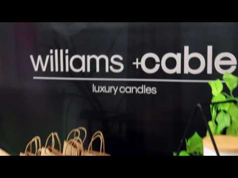 williams+Cable Designer Candles Pop-up Stall at Brewery Yard Markets Sydney