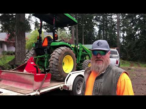 Grading Streets With A John Deere Compact Tractor