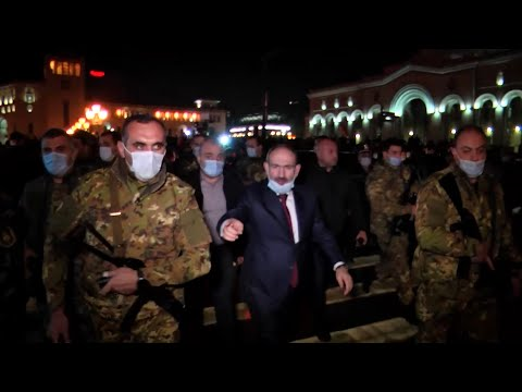 Rival Rallies In Yerevan As Armenia Reels From Nagorno-Karabakh Truce