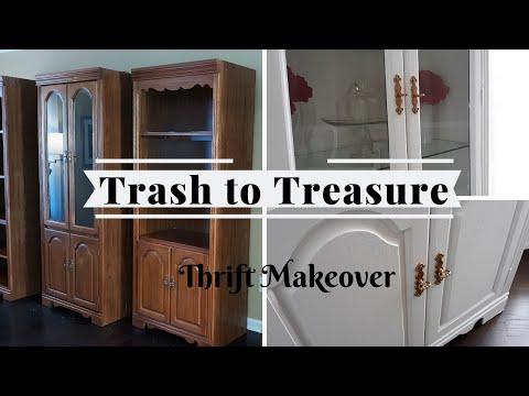 CRAIGSLIST TRASH TO TREASURE || THRIFTED FURNITURE MAKEOVER