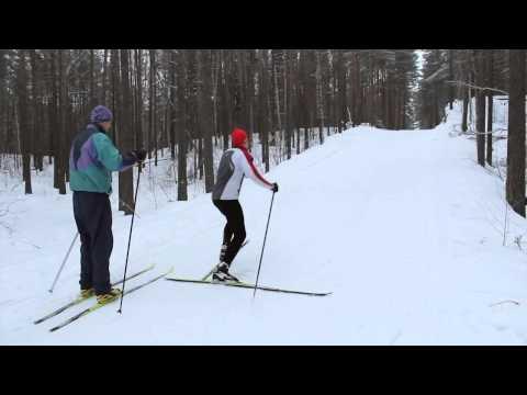 Коньковый ход на лыжах обучение видео ::