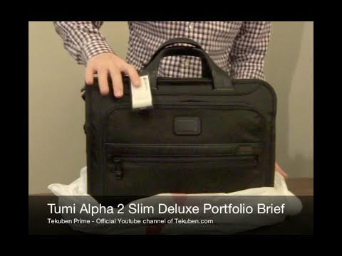 First Look: Tumi Alpha 2 Slim Deluxe Portfolio Brief | Tekuben.com
