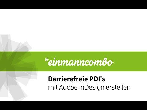 Barrierefreie PDFs mit Adobe InDesign erstellen