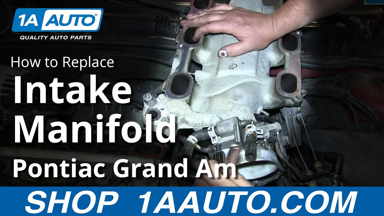 How To Install Replace Upper Intake Manifold Plenum Gm 34l V6 Spark Plug Wiring Diagram On 2001 Oldsmobile Intrigue Engine Pontiac Grand Am Olds Alero