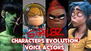 GORILLAZ - CHARACTERS EVOLUTION AND VOICE ACTORS (1998 - 2020)