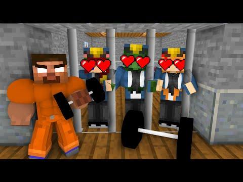 Minecraft, SEXY Girl Prison Break + BODY BUILDER HEROBRINE