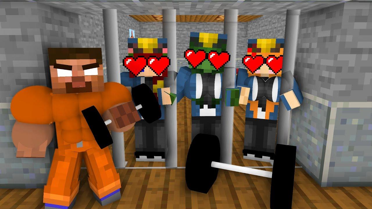 Download Minecraft, SEXY Girl Prison Break + BODY BUILDER HEROBRINE