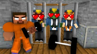 Minecraft, SEXY Girl Prison Break + BODY BUILDER HEROBRINE