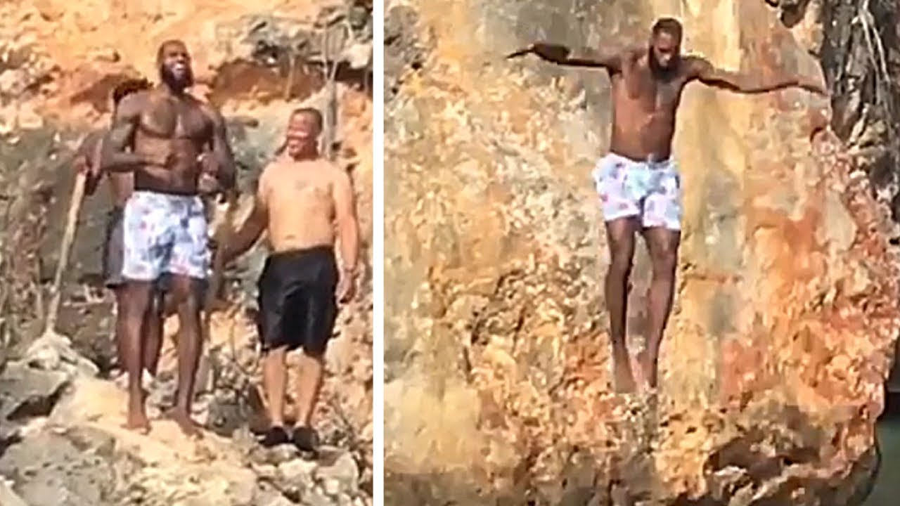 lebron-james-had-to-hype-himself-up-before-jumping-off-a-cliff-into-water