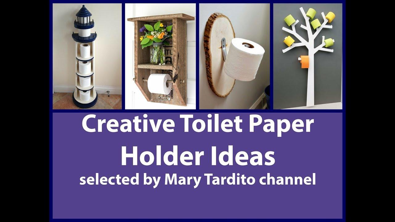 Creative toilet paper holder ideas youtube Creative toilet paper holder