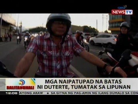 BT: Mga naipatupad na batas ni Duterte, tumatak sa lipunan