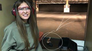 Стрельба в тире из Magnum 357 по-женски! Американский досуг и развлечения c SIG SAUER SP2022 9mm.