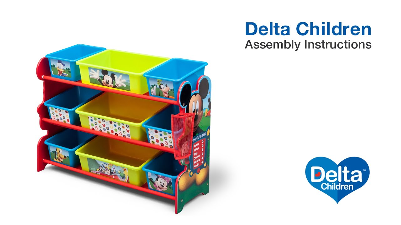 Captivating Delta Children 9 Bin Toy Organizer Assembly Video