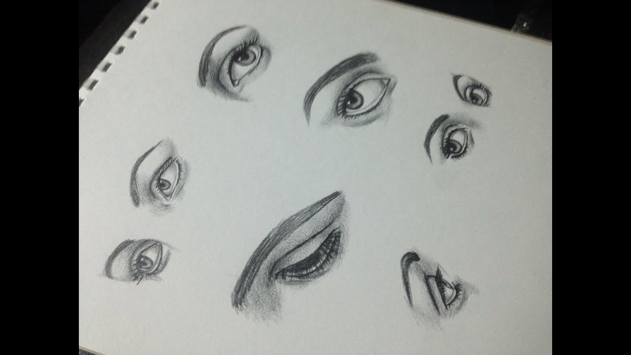 تعليم رسم العين بالعديد من الاتجاهات الفنان شريف طلعت Youtube
