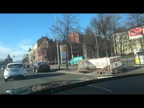 Driving in Helsinki center