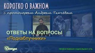 «Подкаблучники». Протоиерей Андрей Ткачев