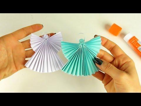 Как сделать ангелов из бумаги