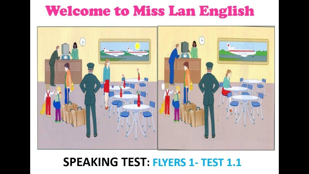 speaking test flyers 1 test 1 1 youtube. Black Bedroom Furniture Sets. Home Design Ideas