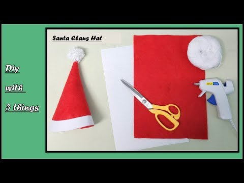 Santa claus Hat - DIY with only three things