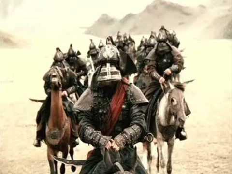 fajna scena z filmu mongol (bitwa mongołów)