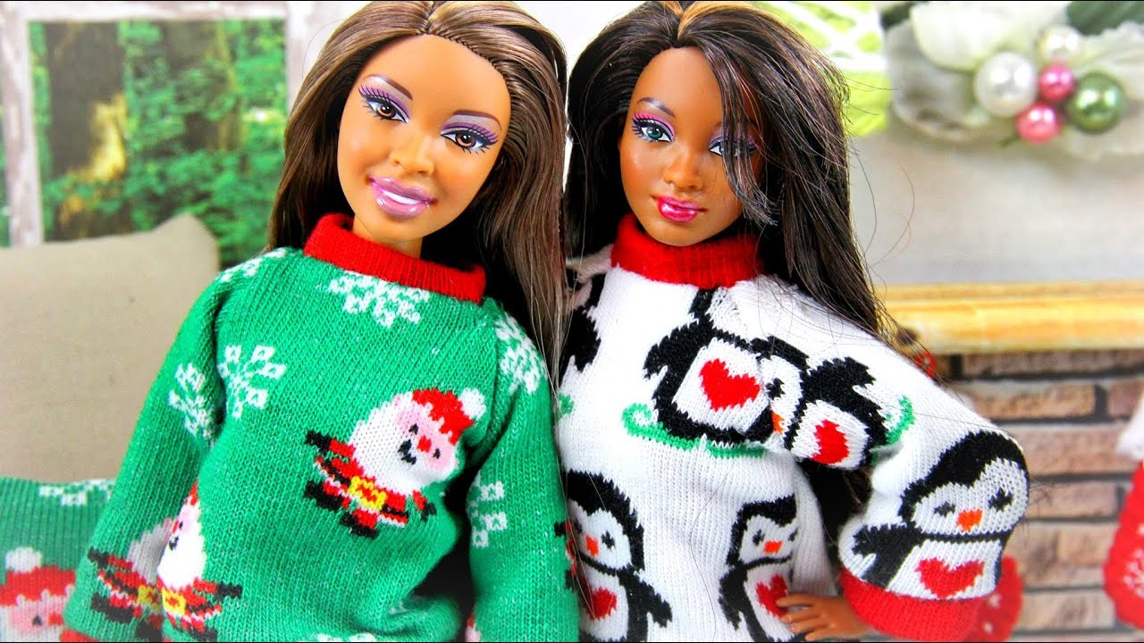 How to Make a Doll Ugly Christmas Sweater - Doll Crafts - YouTube