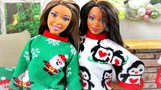 How to Make a Doll Christmas Sweater - Doll Crafts