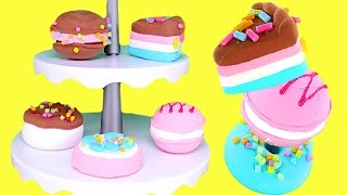 Poppit Pop 'N' Display Bakery How To Make 3D Sweet Treats using Clay | DCTC Toy Review