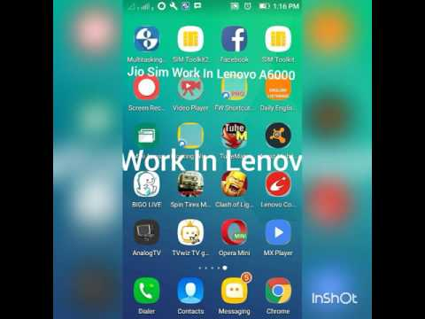 "Jio sim work in Lenovo a6000 ""edited by nipin.k"""