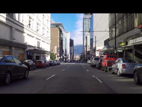 Downtown Vancouver Canada - Seymour Street - The Orpheum, Vancity Theatre & BCIT