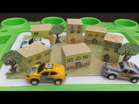 DIY: How to make a 3d paper house and village | How to make an origami village with houses and trees