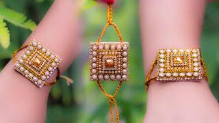 Make a Super easy RAKHI | best for kids | Raksha bandhan | paper rakhi | crafty butterfly 037