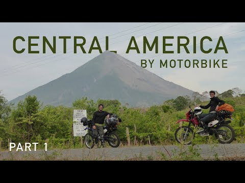 No better place to learn how to ride a motorbike than in Central America.  Part 1