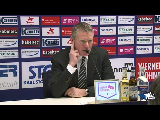 Pressekonferenz: Schwenninger Wild Wings-Augsburger Panther