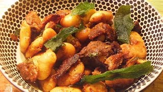 Duck With White Beans, Dry Roasted Plums And Fried Sage