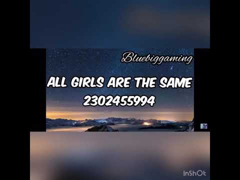 all girls are the same roblox id