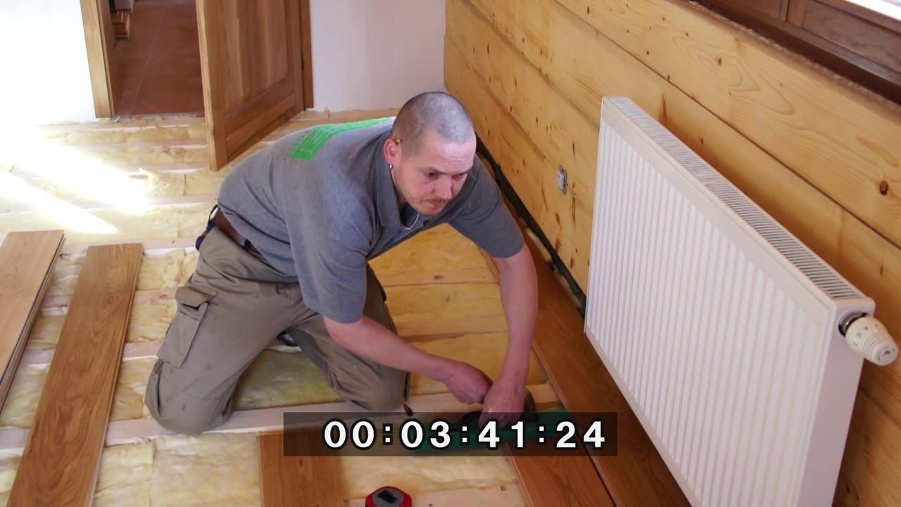 Feel Wood Massivholzboden Verlegung Verschrauben Youtube