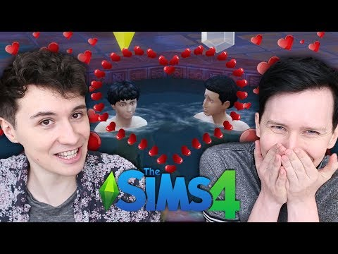 TWO BROS CHILLING IN THE HOT TUB - Dan and Phil Play: Sims 4 #51