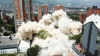 شاهد: لحظات تفجير منزل تاجر المخدرات بابلو إسكوبار في كولومبيا …