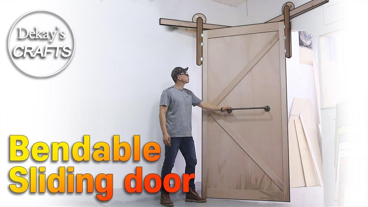꺾이는 슬라이딩 도어 만들기 / Articulated Sliding Door with multi rails [목공, diy, woodworks]