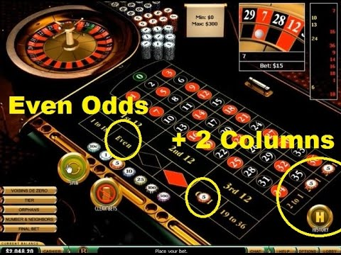 odds bet on 2 columns roulette