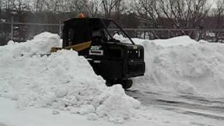 ASV PT100 compact track loader with snow bucket