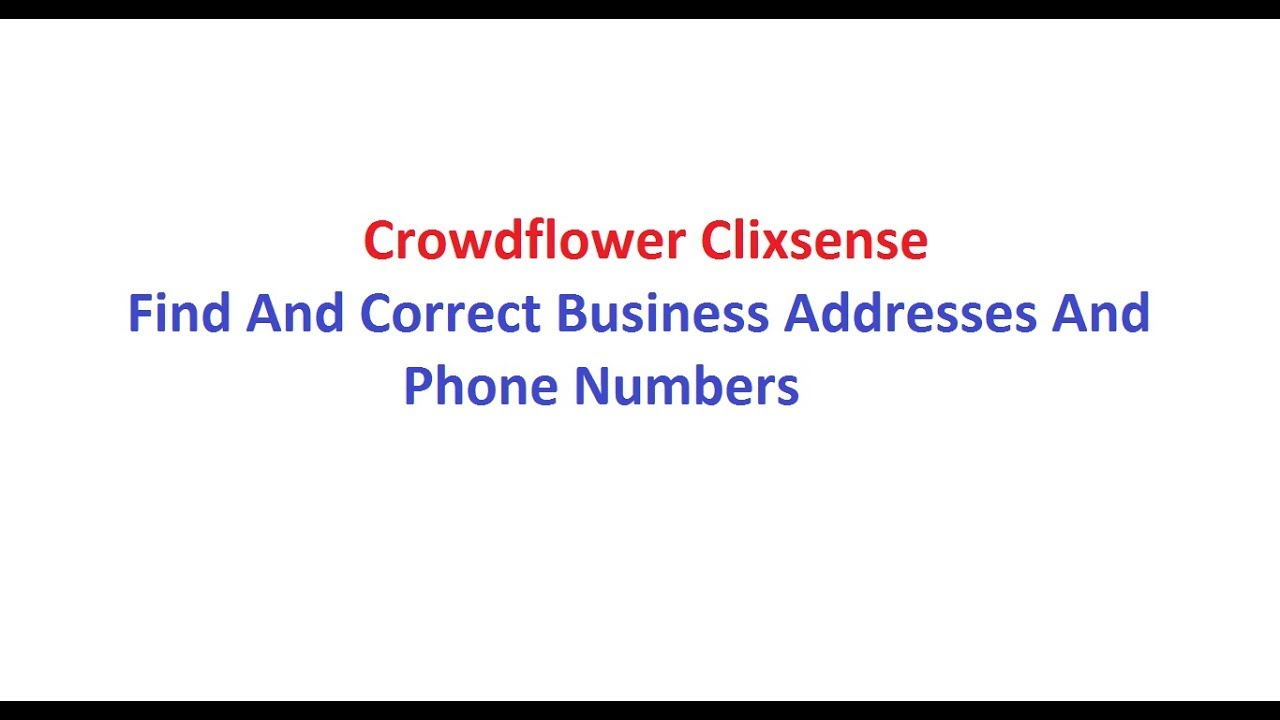 addresses with phone numbers