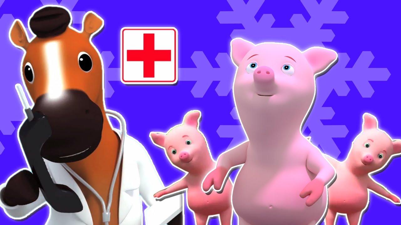 fünf kleine Schweinchen | Bauernhof Lieder-Sammlung für Kinder ...