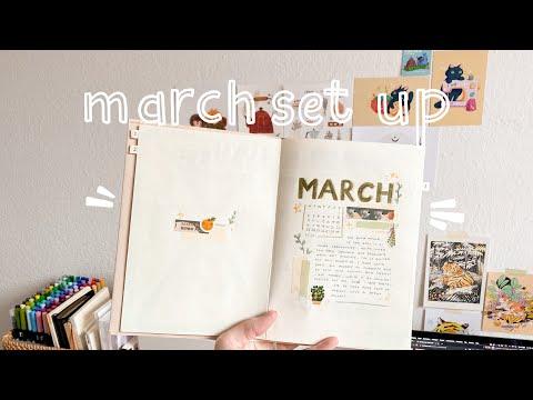 🌱march 2020 bullet journal set up ✨