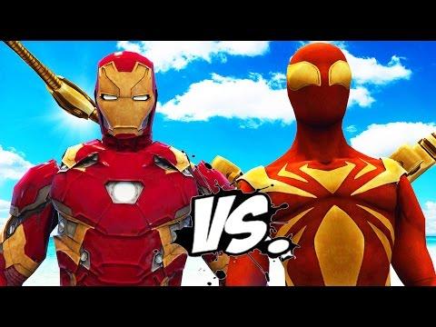 IRON SPIDER VS IRON MAN - EPIC SUPERHEROES...