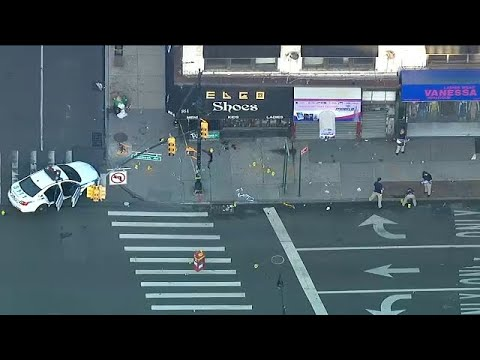 Aerials: FBI joins investigation after NYPD officers wounded in Brooklyn