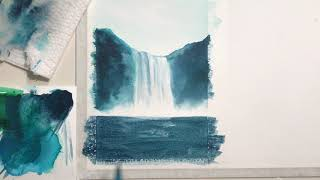easy waterfall watercolor tutorial forest idea watercolor painting ideas for beginners youtube easy waterfall watercolor tutorial forest idea watercolor painting ideas for beginners